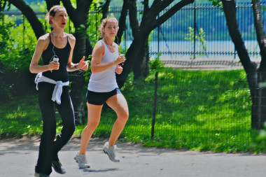 Jogging with our iPhones...