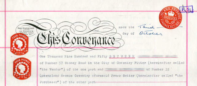 Legal stamp – Conveyance